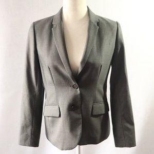 J Crew Size 6P Suit Jacket Blazer Wool Gray